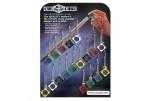 Брелок-инструмент для обработки наклейки cue cube 6 цветов дисплей 18шт.
