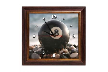 Часы с бильярдным шаром
