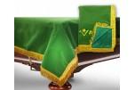8 футов, зеленый бархат