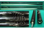 Кий «Каюков Мастер» Чёрный граб, гравировка «пиковый» флеш рояль, 2 части