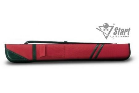 Чехол для 1 кия, мягкий, отделка-кожа, торцевая застежка, лямка, 1 карман, цвета в ассортименте