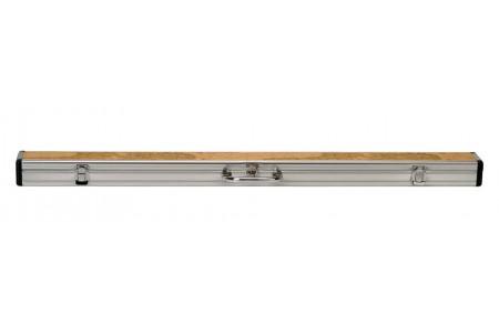 Алюминиевый жесткий футляр для кия ПУЛ (2рс), 145 см., светло-коричневый/блестящий хром
